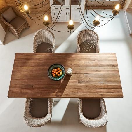 Tavolo rustico in legno massello naturale