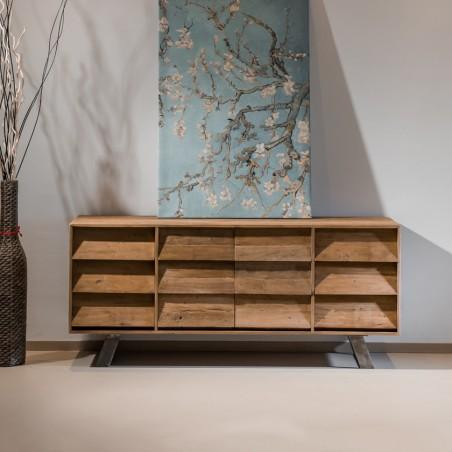 Base industrial design legno riciclato