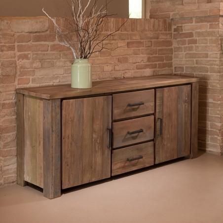 Credenza industrial legno riciclato