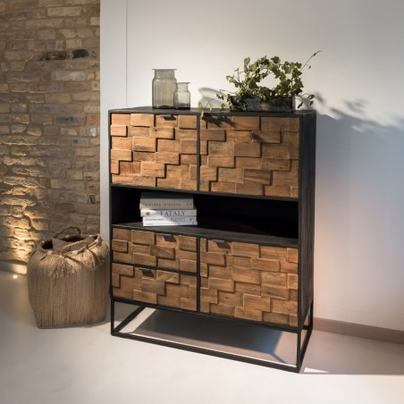 Credenzina design Pauline legno riciclato