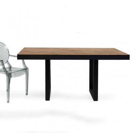 Tavolo industrial design legno riciclato