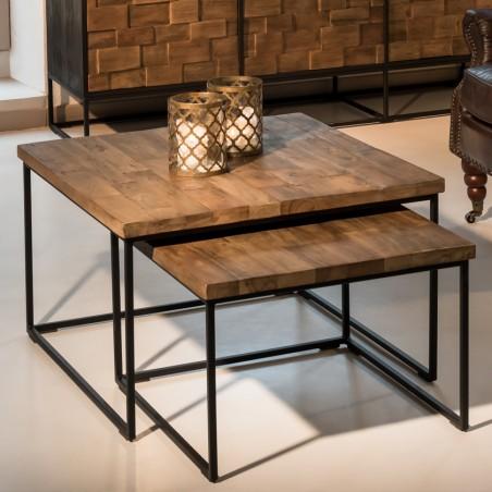 Set 2 Tavolini design industrial