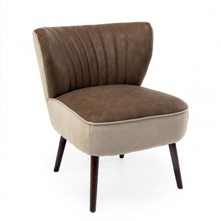 Poltroncina vintage design eco-pelle