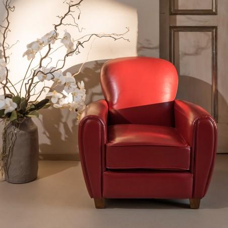 Poltrona Club design rossa