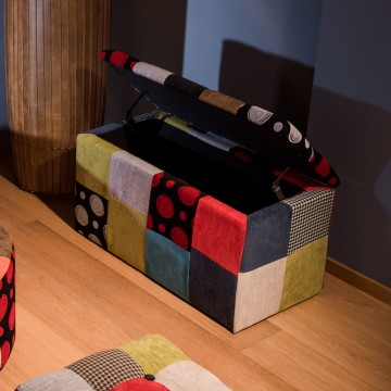 Baule contenitore patchwork
