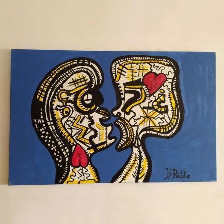 """""""Amor consciente y Amor inconsciente"""" - Acrilico su tela (autore """"Bello Diablo"""")"""