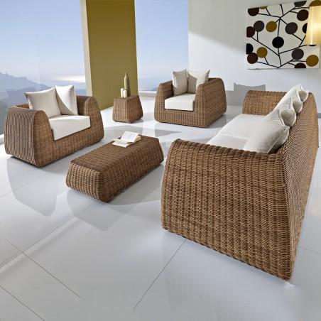 "Lounge Set per esterno ""Cactus"" bronzo"