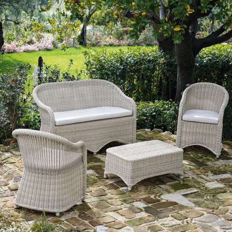 Lounge Set Charlie per esterno bianco ambrato