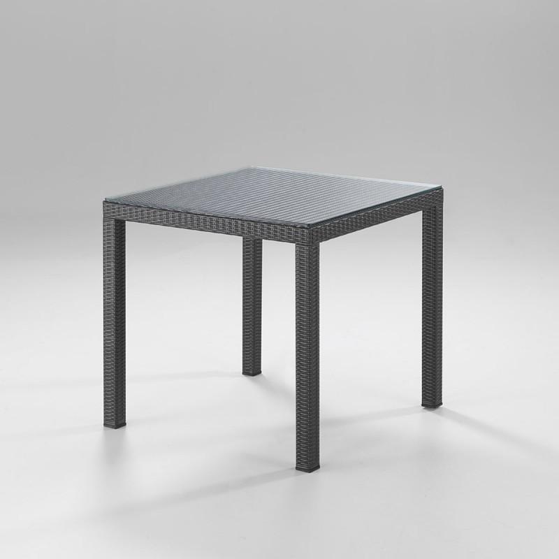 Tavolo quadrato polyrattan da esterno - design italiano ...