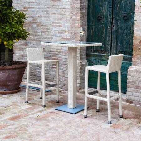 Set Bar - Tavolo alto e Sgabelli per esterno