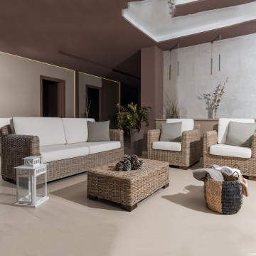 Lounge Set Cay in rattan...