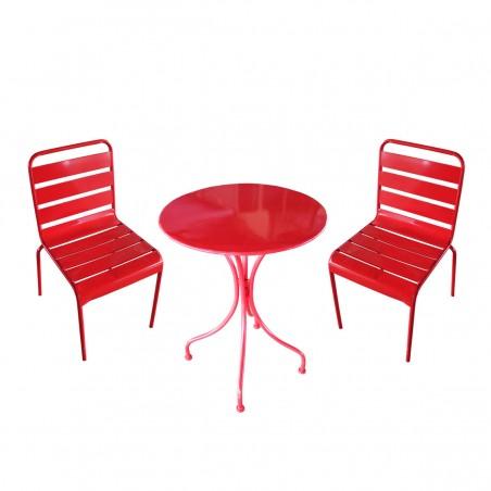 Set 2 Sedie e Tavolino in ferro