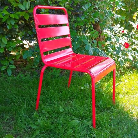 Sedia moderna in ferro per esterno