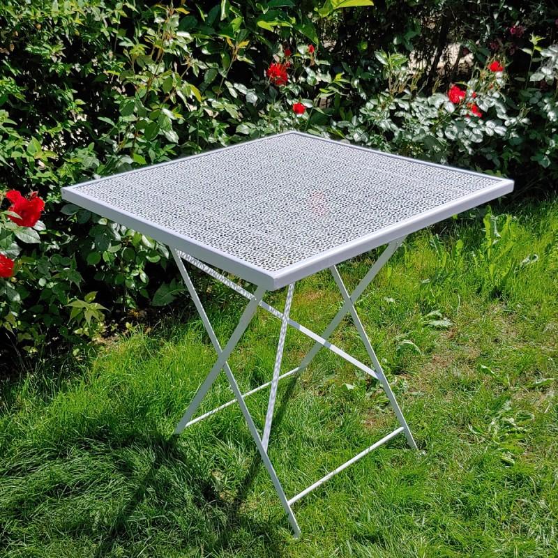 Tavolo in ferro per esterno - misura 70x70 con lavorazione ...