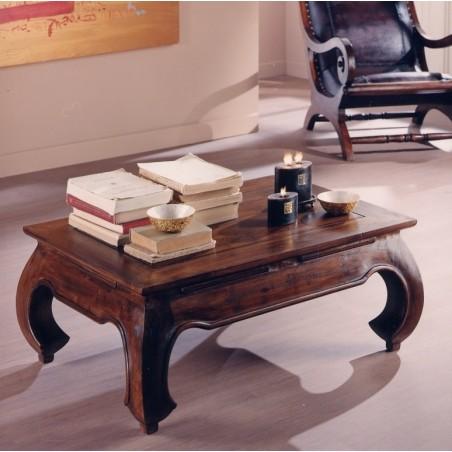 Tavolino etnico da salotto in teak