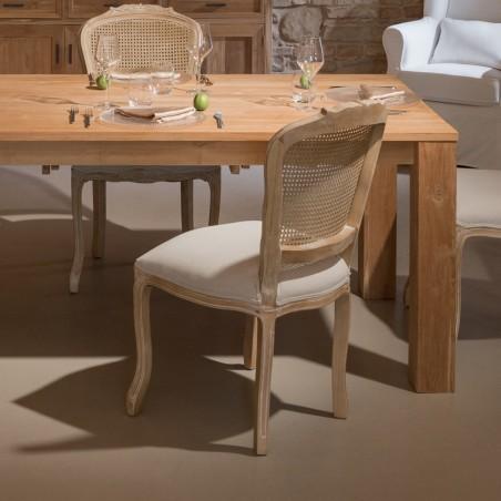 Sedia Vienna in legno di rovere anticato