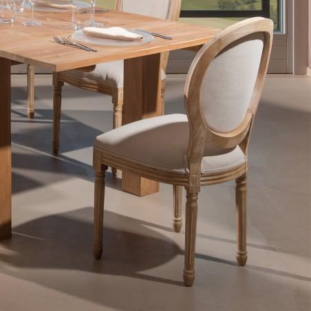 Sedia parigina in legno di rovere anticato