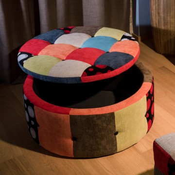 Pouff contenitore patchwork...