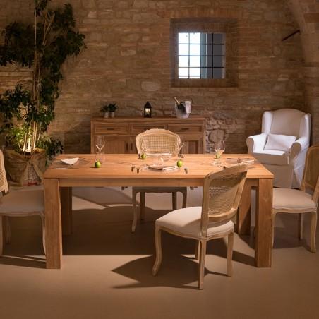 Tavolo Minimal 100 x 190 in teak naturale